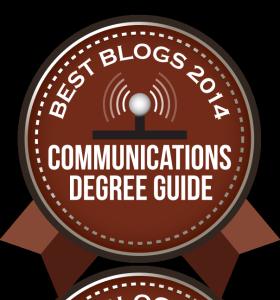 Badge - Communications Degree Guide Best Blogs 2014